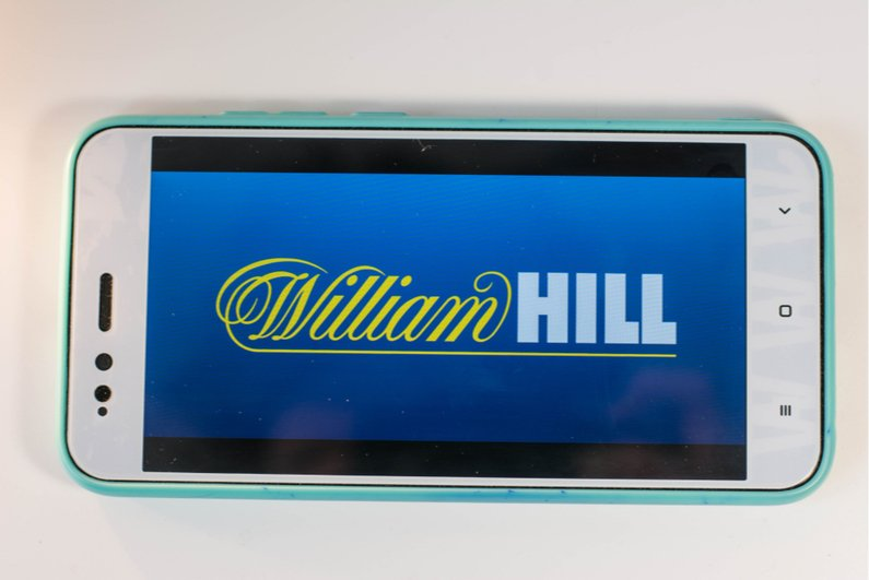 William Hill splash screen on a smartphone